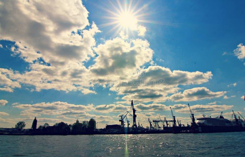 汉堡,德国港  库存照片