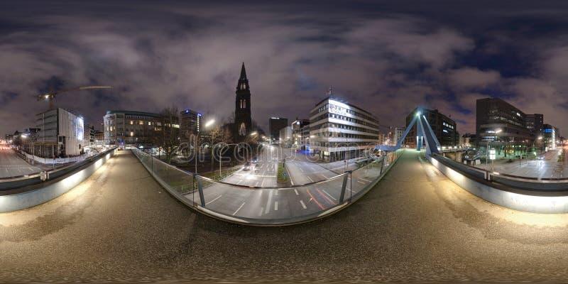 汉堡360度全景街道视图 库存照片