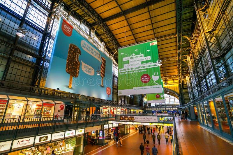 汉堡Hauptbahnhof火车站 图库摄影
