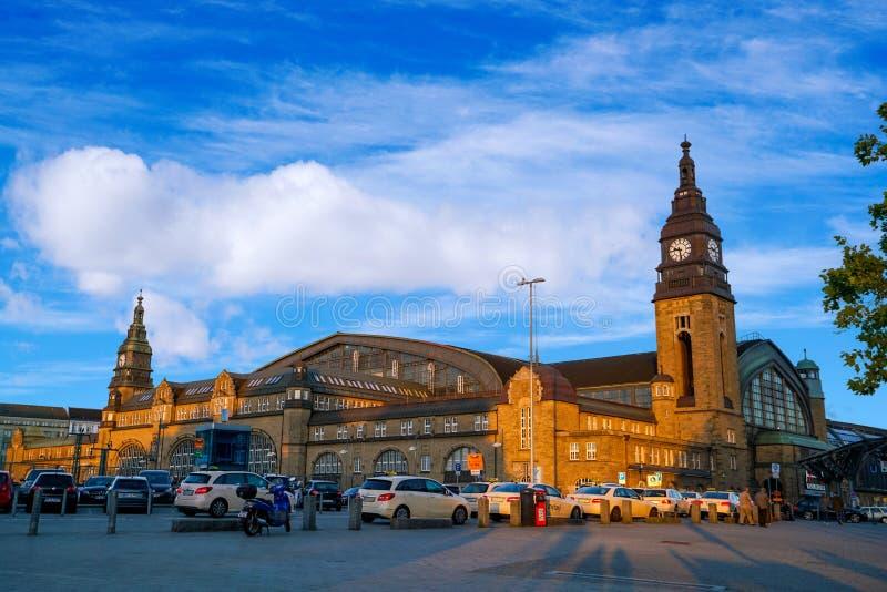 汉堡Hauptbahnhof火车站 库存照片