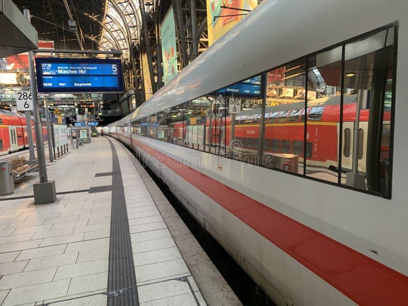 汉堡HBF火车站 库存照片