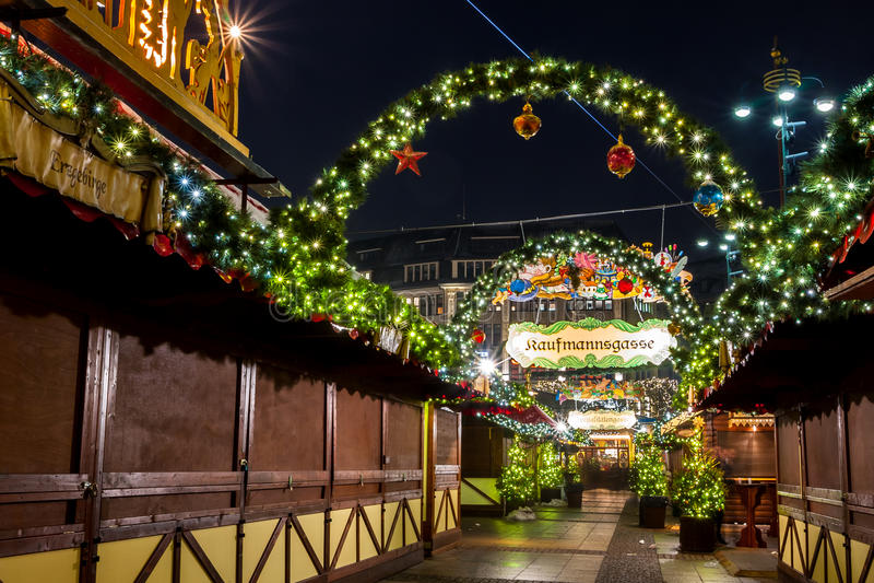 汉堡Weihnachtsmarkt,德国 库存图片