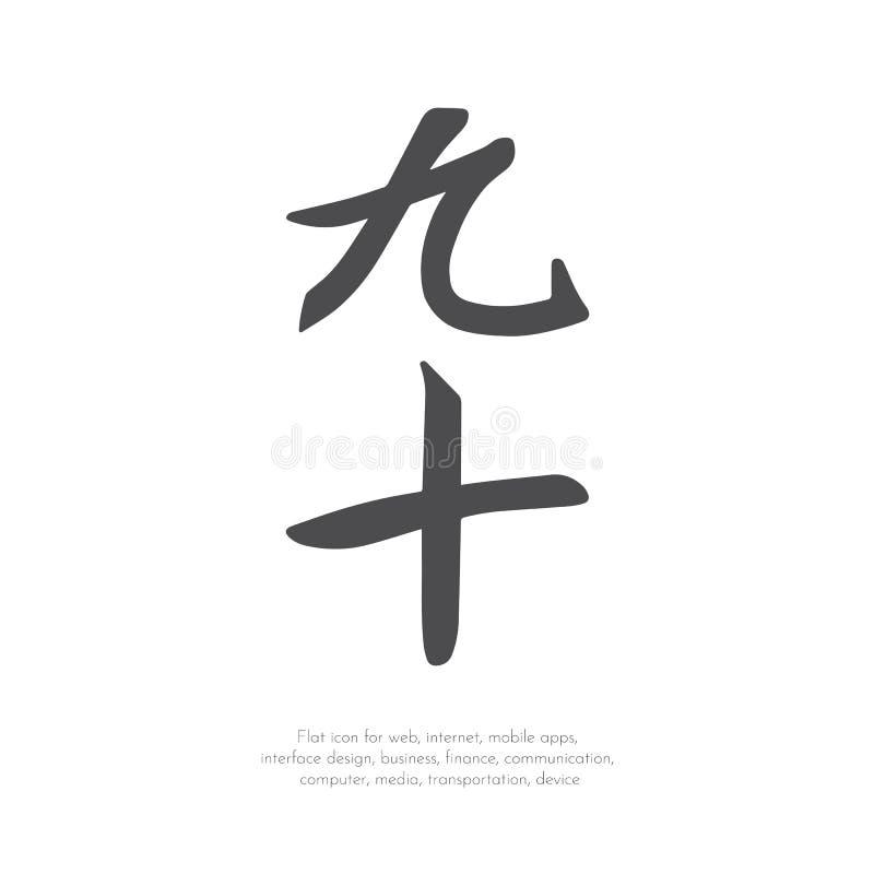 汉字九十 皇族释放例证