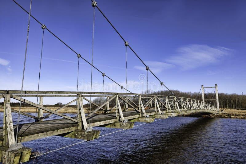 在Skjern,丹麦附近的汉斯国王桥梁 库存照片