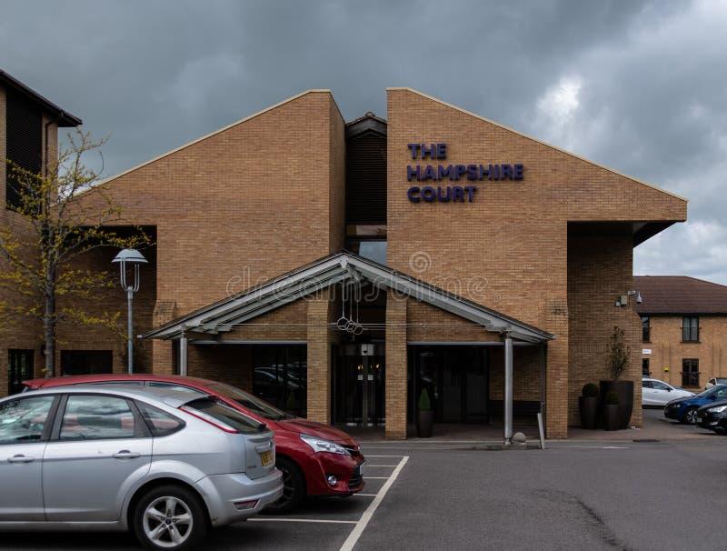 汉普郡法院入口 免版税库存照片