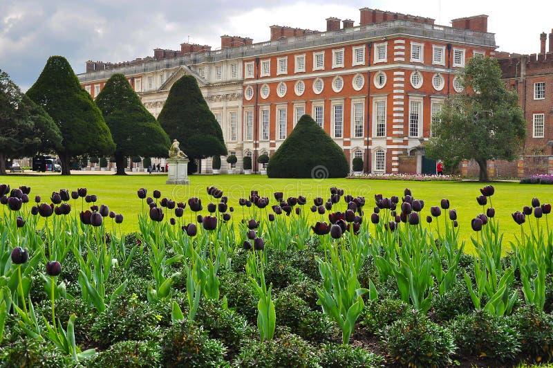 汉普顿法院宫殿,伦敦,英国 免版税图库摄影