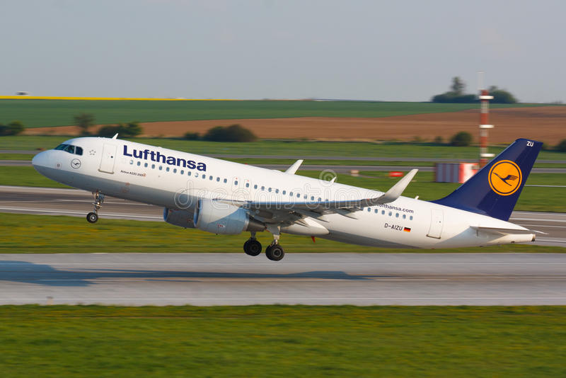 A320汉莎航空公司 图库摄影