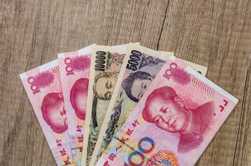 汉语元对日元 免版税库存图片