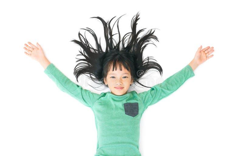 汉语放松女孩 免版税库存照片