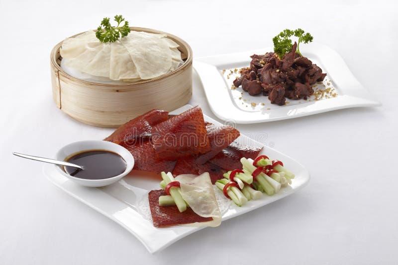 汉语烤了鸭子集合 免版税库存图片