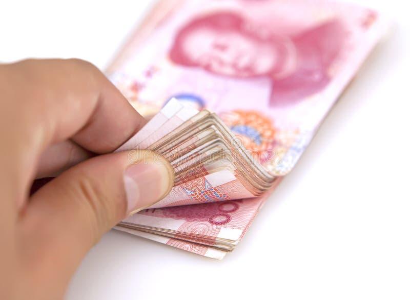 汉语的钞票 库存照片