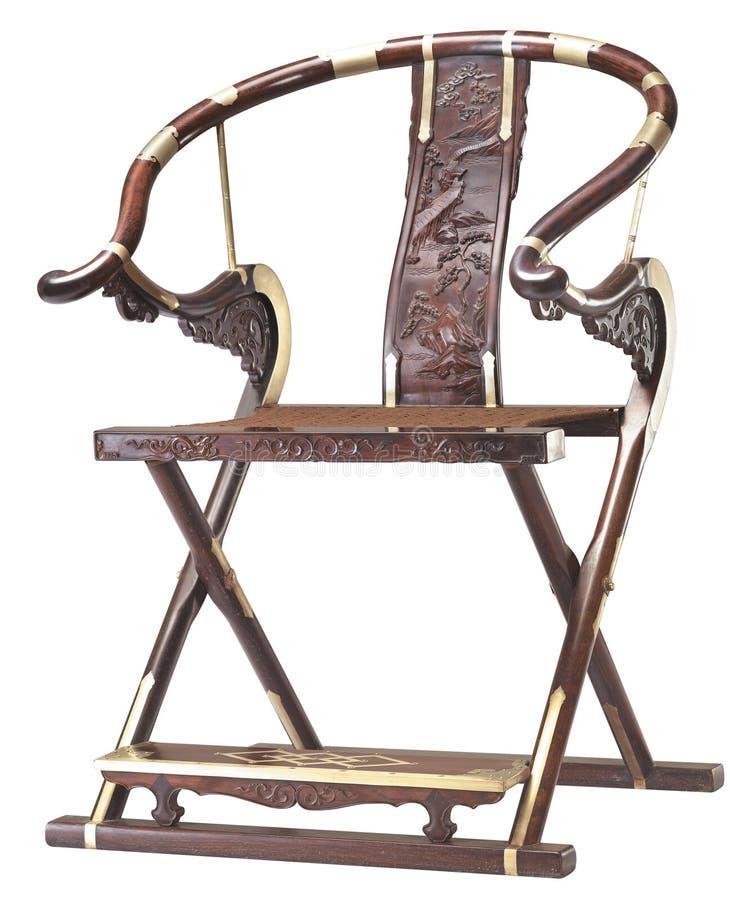 汉语经典家具折叠椅  库存图片