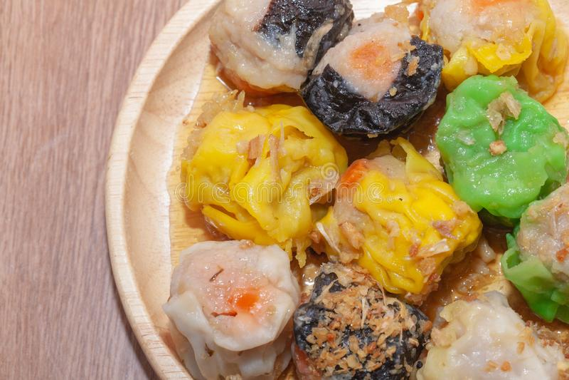 汉语蒸的饺子或Shumai 免版税图库摄影