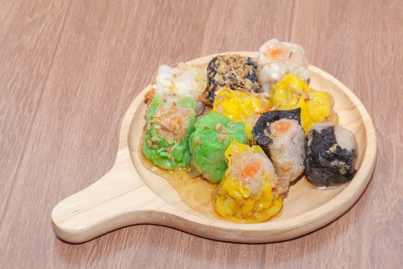 汉语蒸的饺子或Shumai 库存图片