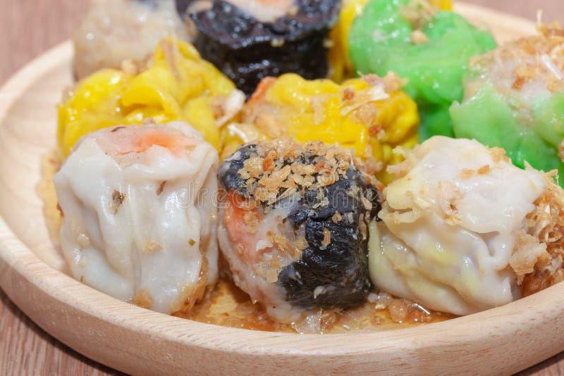 汉语蒸的饺子或Shumai 免版税库存图片