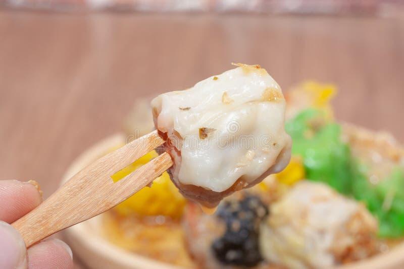 汉语蒸的饺子或Shumai 图库摄影