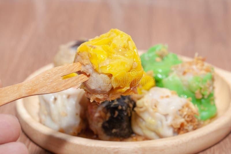 汉语蒸的饺子或Shumai 免版税库存照片