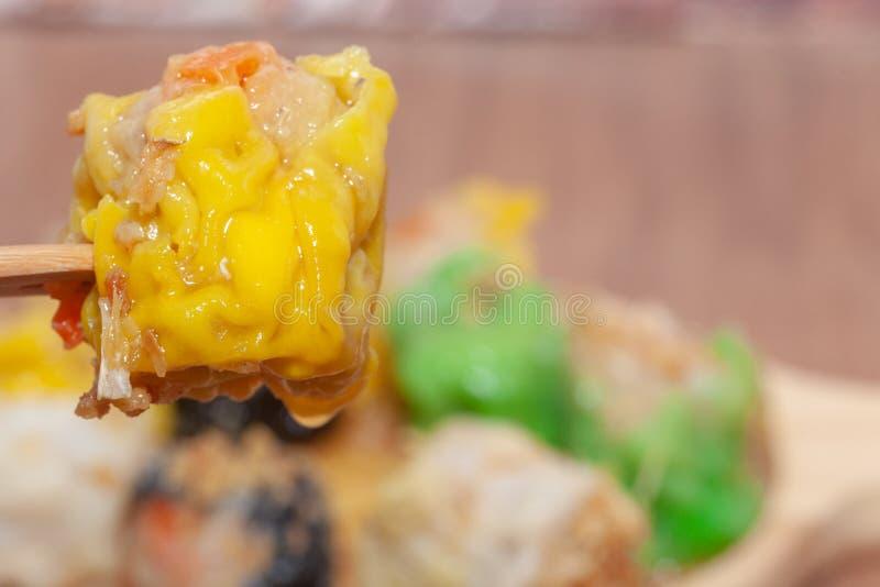 汉语蒸的饺子或Shumai 库存照片