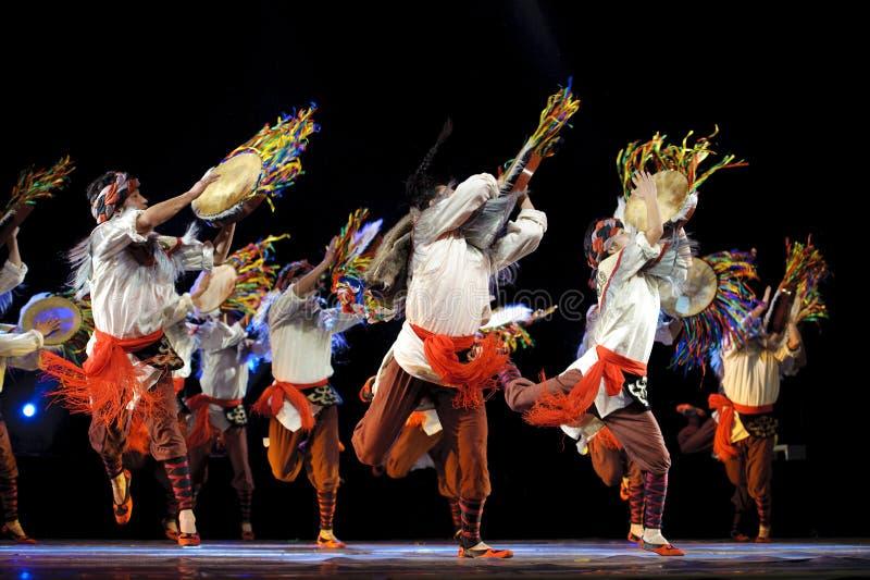 汉语跳舞种族qiang 免版税图库摄影