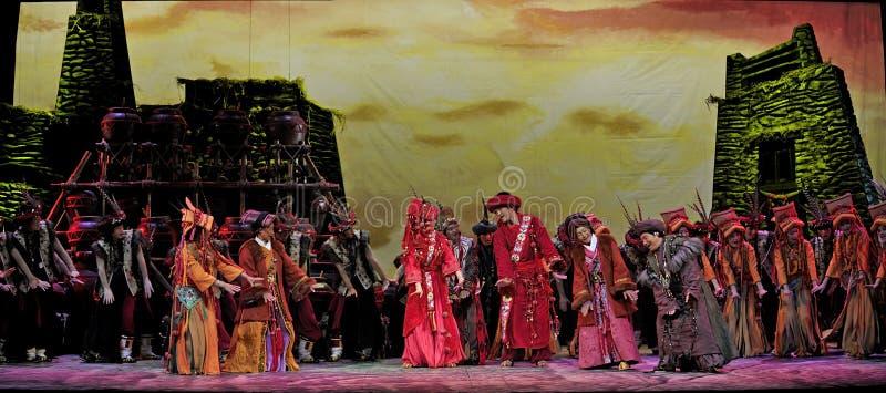 汉语跳舞种族qiang 库存照片
