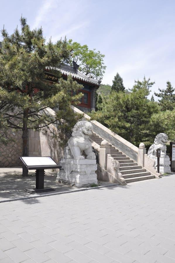 汉语长城居庸关行政大厦  库存图片