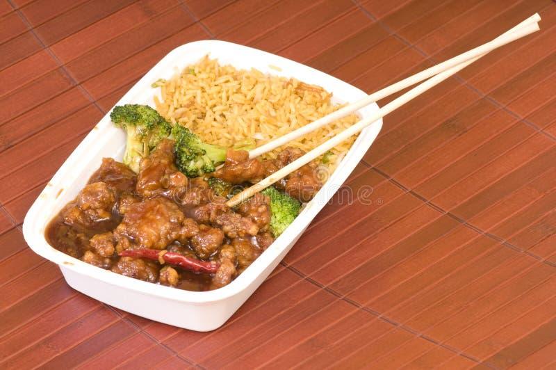 汉语去掉晚餐 库存图片