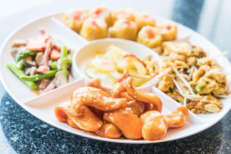 汉语Orderve -中国食物样式 库存图片