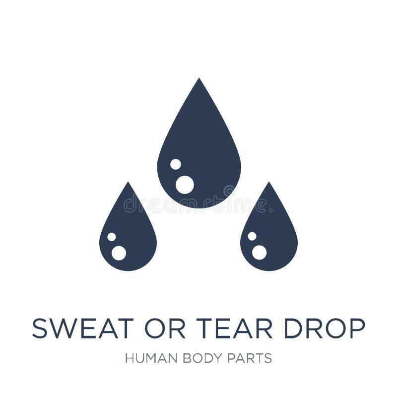 汗水或泪花下落象 时髦平的传染媒介汗水或泪花下落i 库存例证