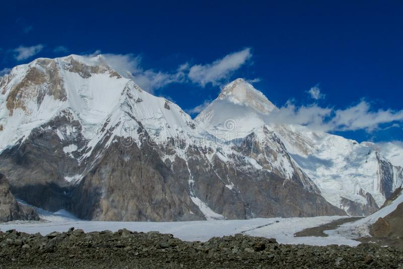 汗腾格里峰山在天狮单中 免版税图库摄影