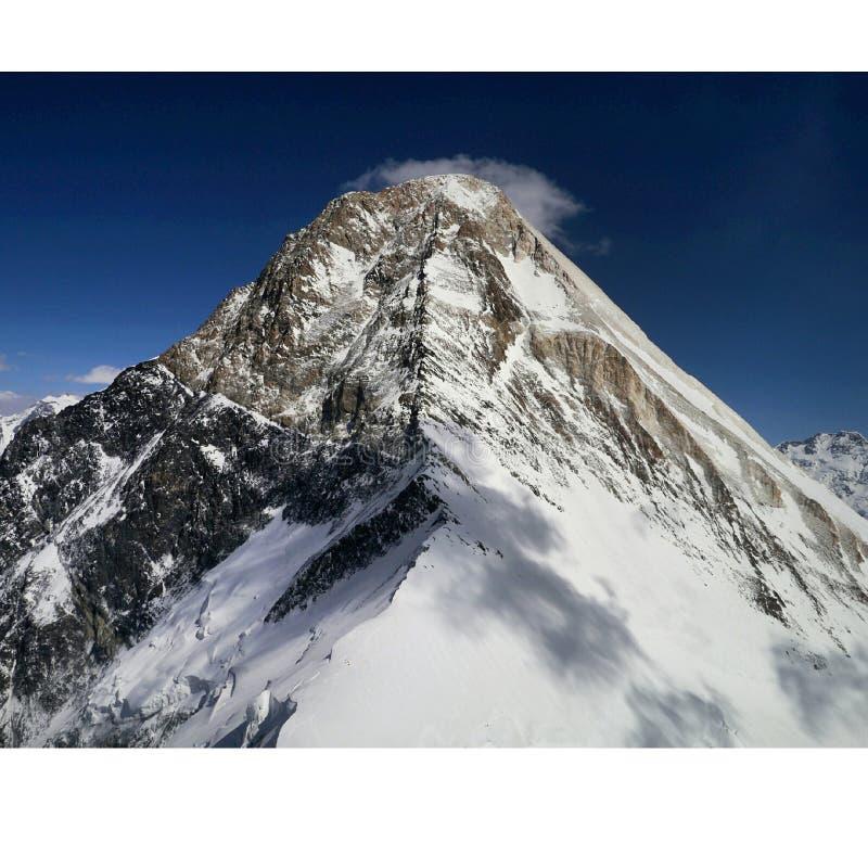 汗腾格里峰山顶 免版税库存照片