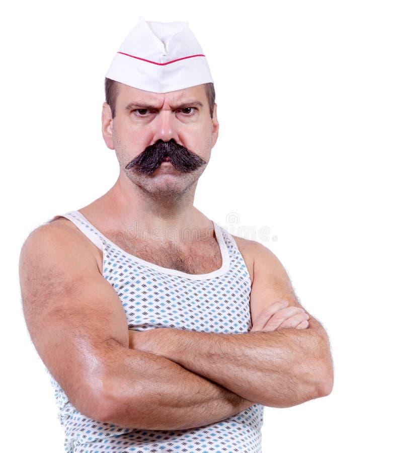 汗衫的厨师 免版税库存照片