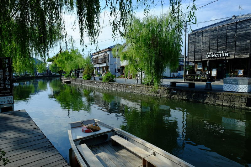 江边在柳川 免版税图库摄影