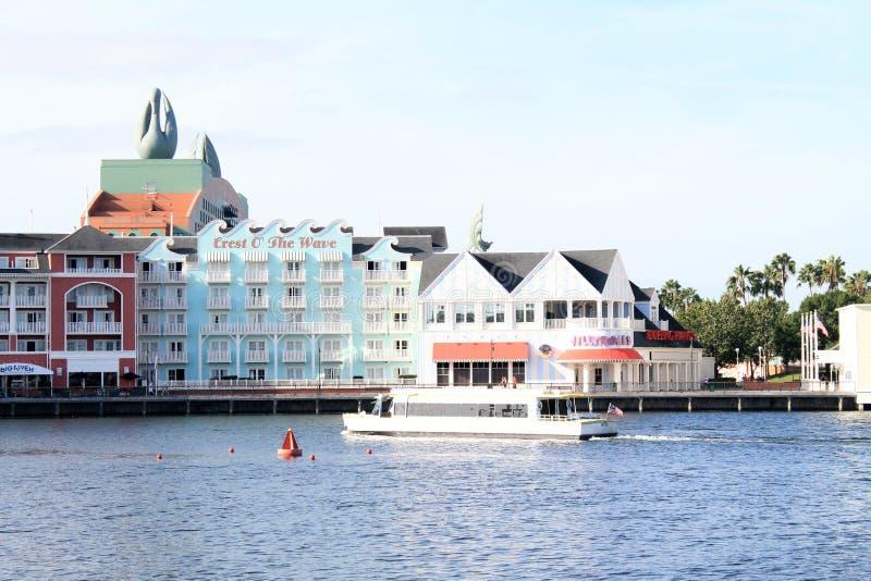 江边旅馆大厦在中央佛罗里达 库存照片