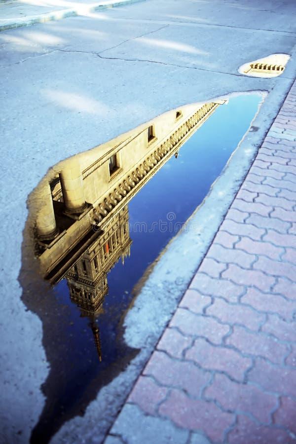 池反映 免版税库存照片