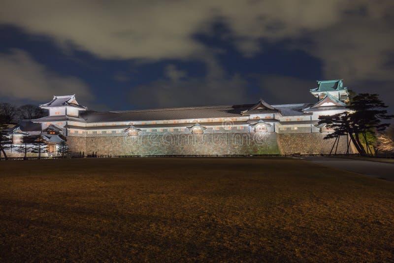 今池城堡在晚上在今池,日本 库存照片