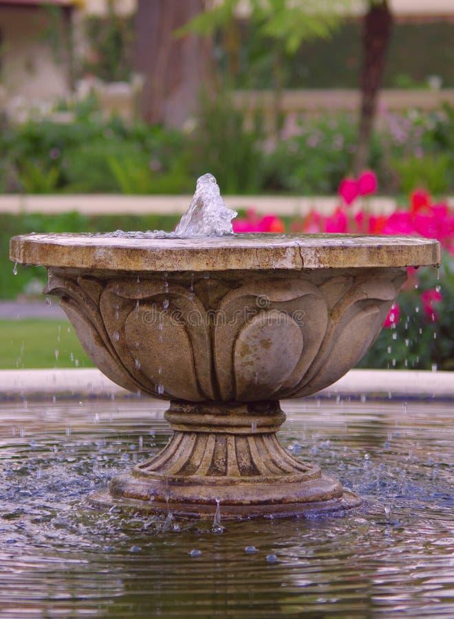 池塘的喷泉 库存图片