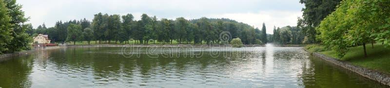 池塘风景 库存图片
