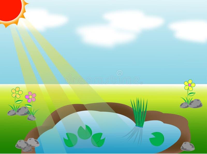 池塘 向量例证