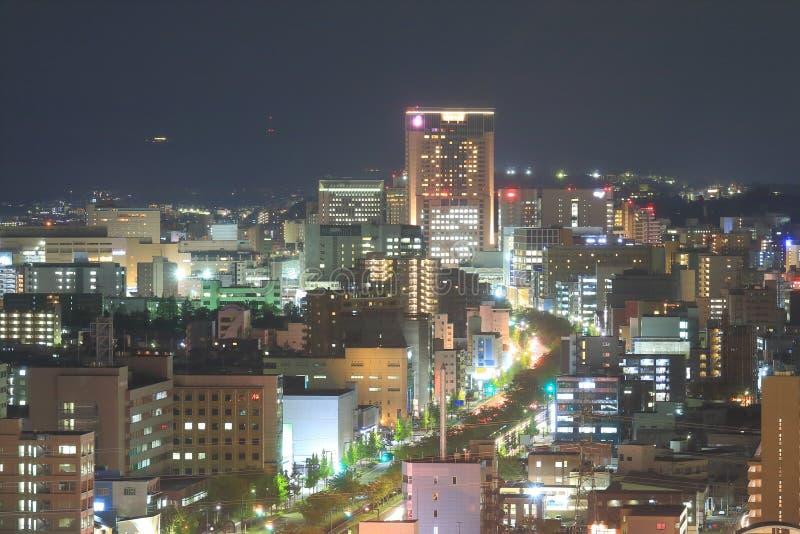 今池夜都市风景视图在今池日本 库存照片