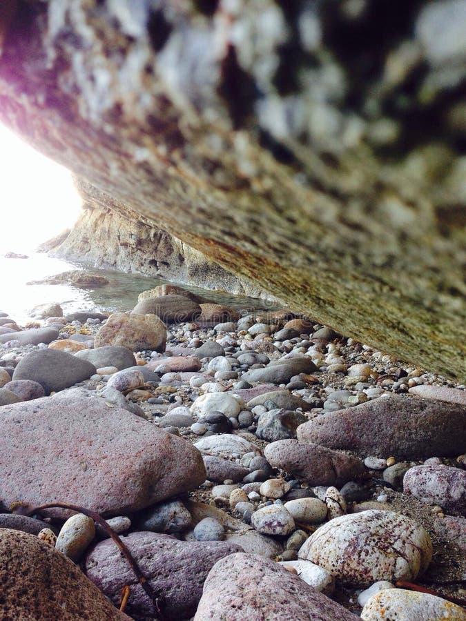 池岩石 免版税库存照片