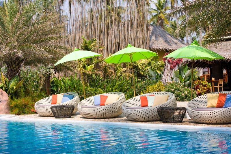 池手段游泳泰国 库存照片