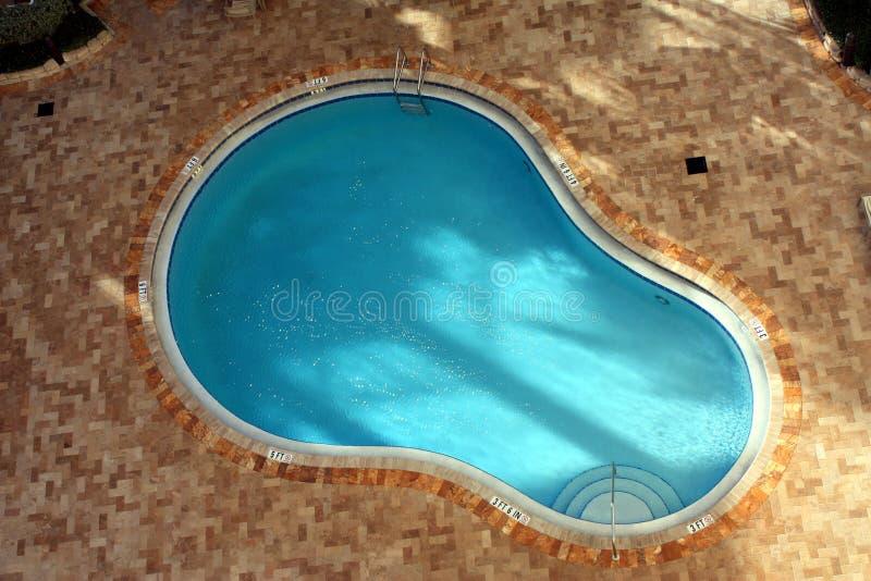 池手段游泳 免版税图库摄影