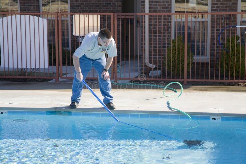 池服务游泳 库存照片
