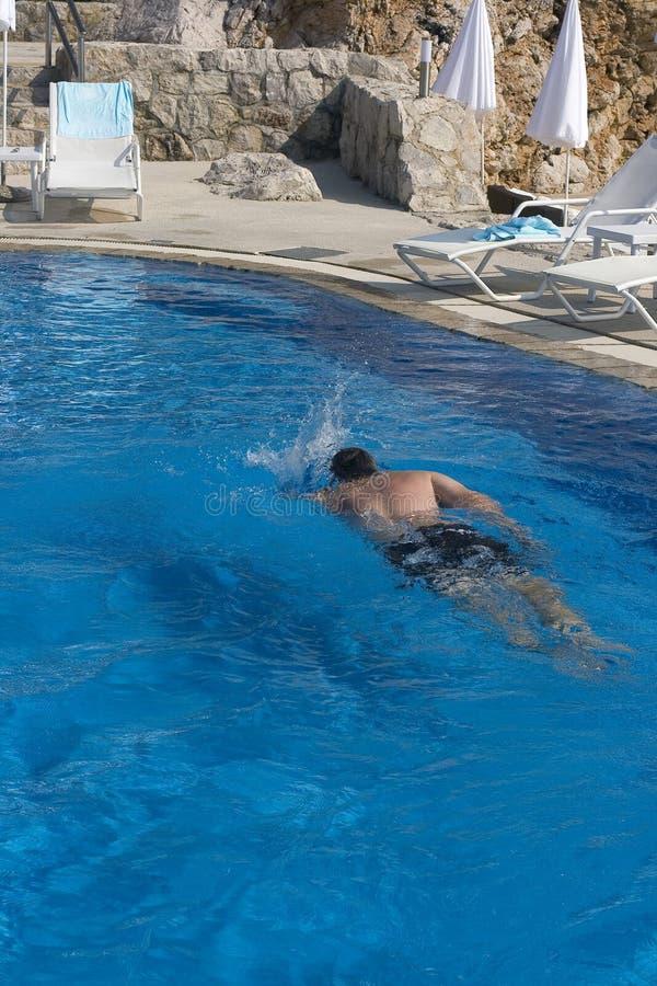 池游泳者 免版税库存照片