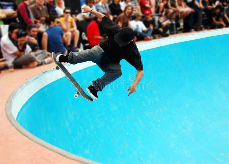 池溜冰板运动 免版税库存照片