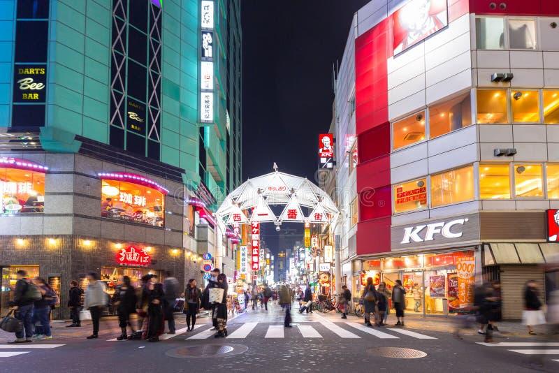 池袋区都市风景在东京 库存照片