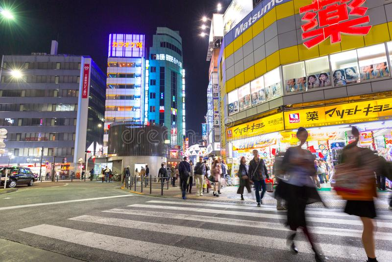 池袋区都市风景在东京 图库摄影