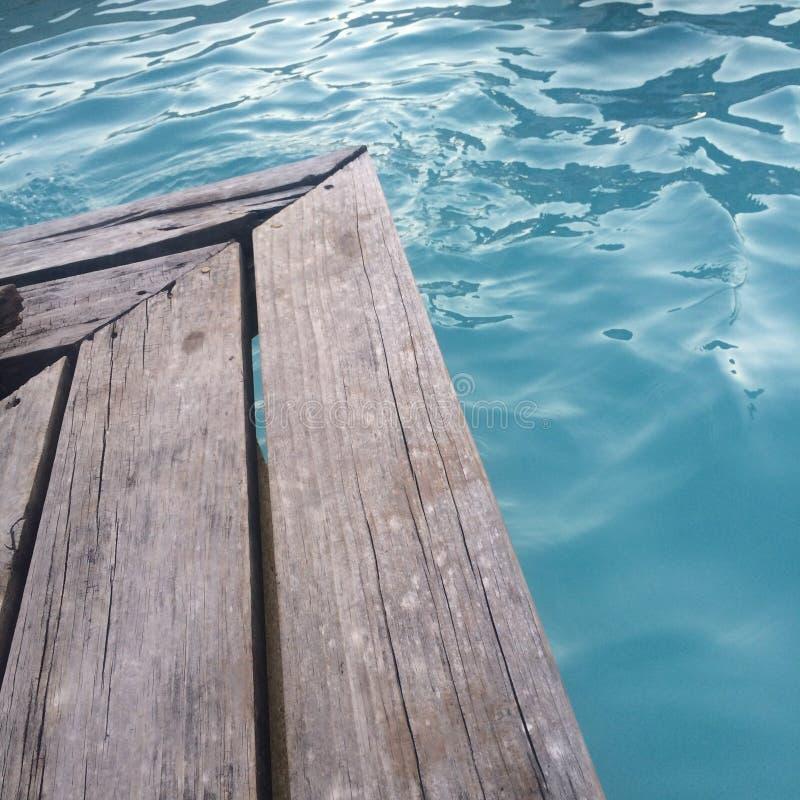 水池边 免版税库存照片
