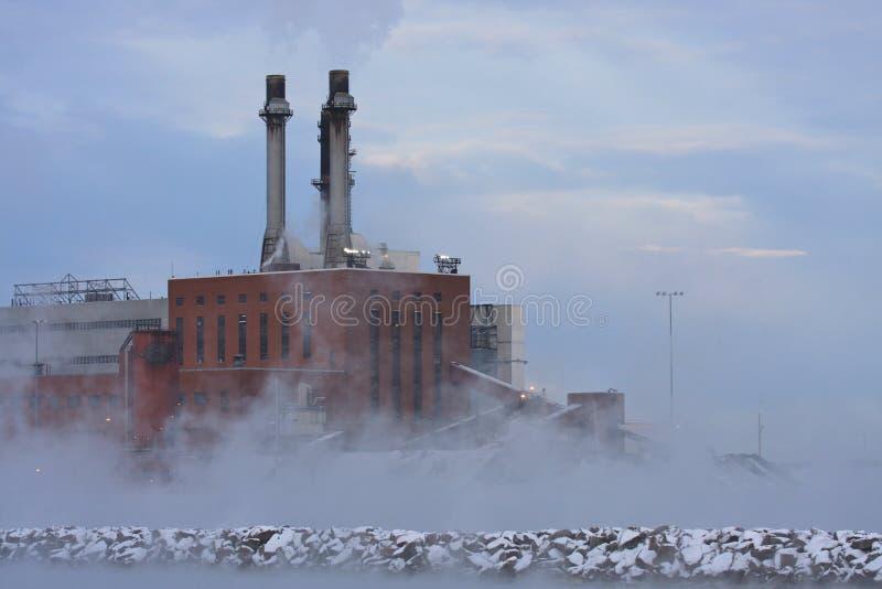 污染上升暖流 库存照片