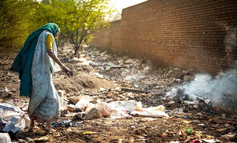 污染和贫穷 免版税库存照片